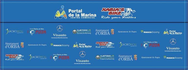 Cartel de patrocinadores Portal de la Marina