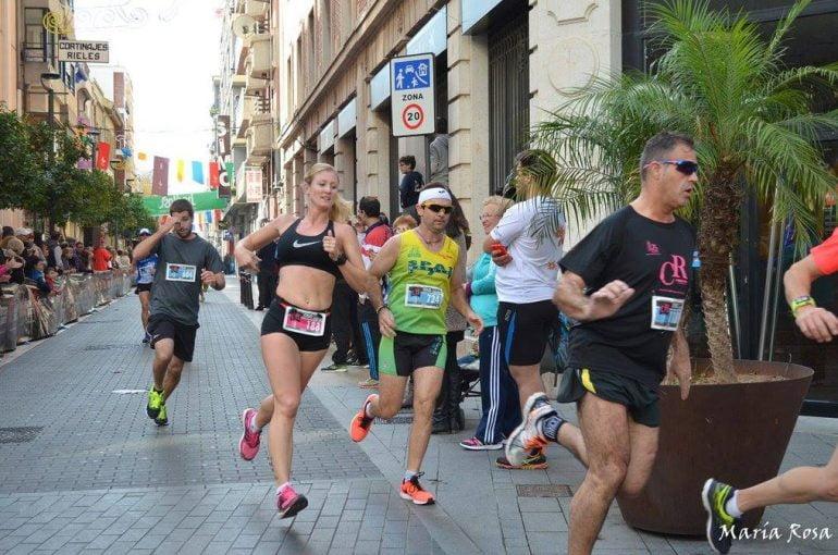 Cristina Roselló en la calles de Gandía