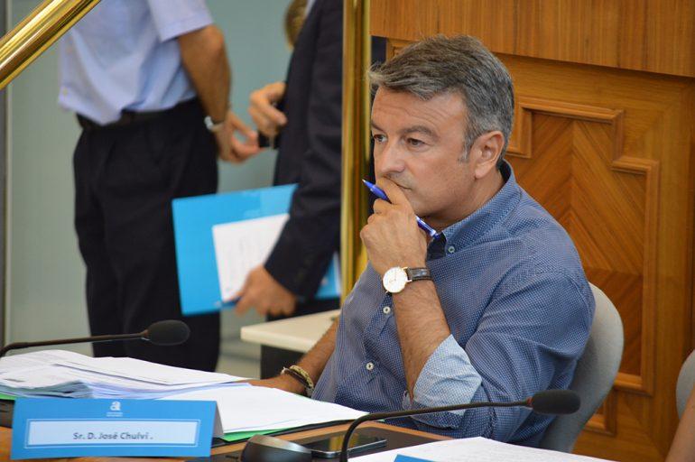 José Chulvi en la Diputación