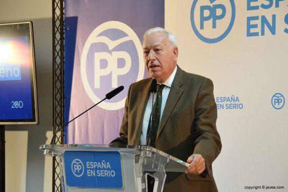 Imagen: José Manuel García-Margallo en su discurso