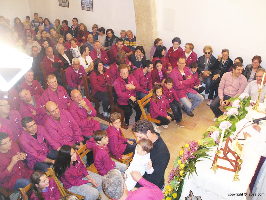In der Kapelle während der Messe
