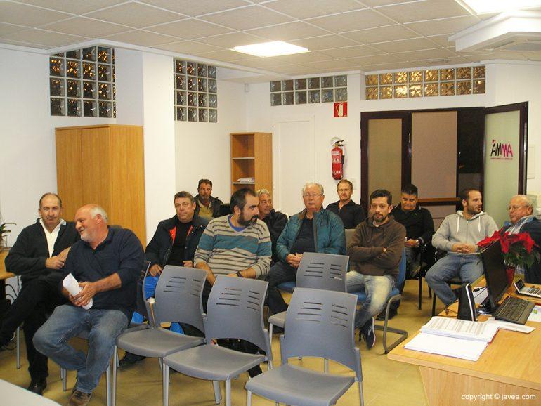 Reunión de miembros de la Cofradia de Pescadores de Xàbia