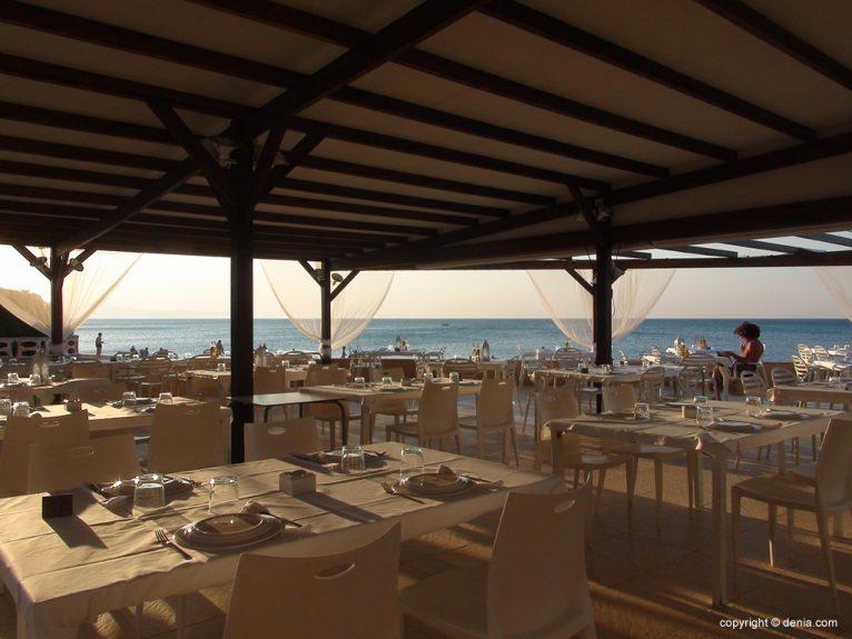 Terrassa Taules Hotel Mar Noguera