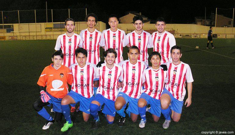 Once del CD Jávea en un partido de la temporada