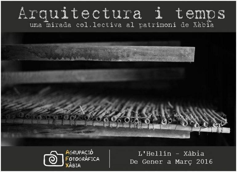 Cartel de la Exposición Arquitectura i temps