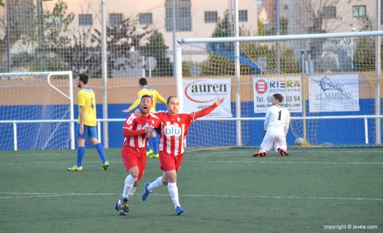 Dani García y Javi celebrando el gol