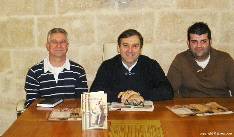 Antonio Miragall con Guillermo Bolufer y Vicent Salvador