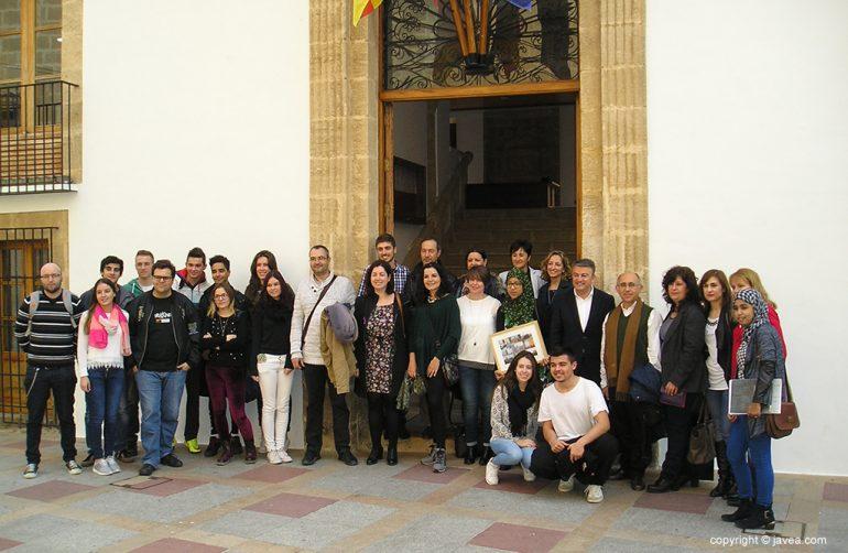Alumnos del proyecto Erasmus Plus el IES Nº 1 Xàbia