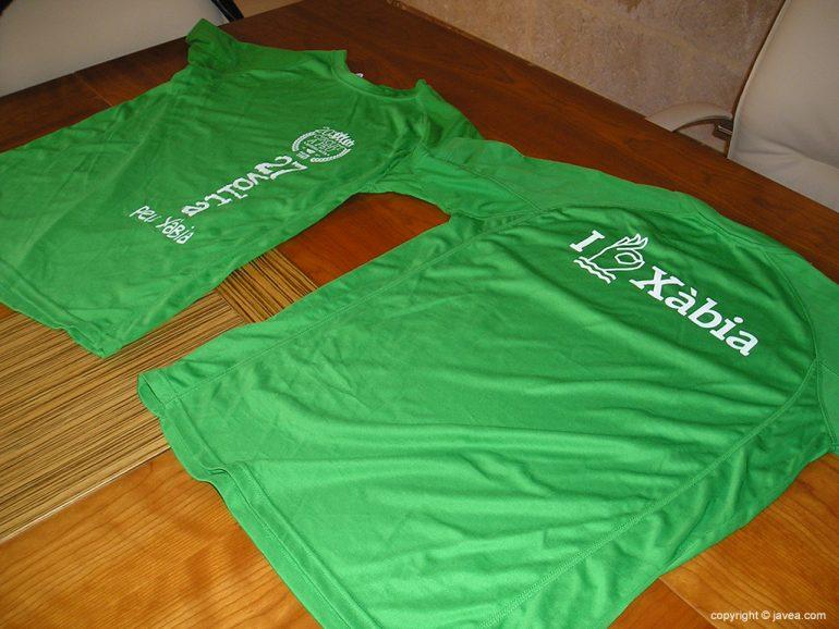 Camisetas conmemorativas de la XXVII Volta a Peu a Xàbia
