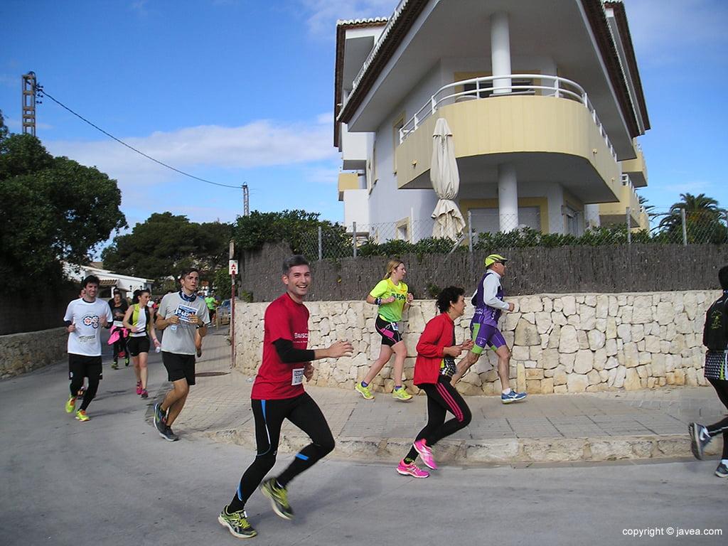 Grupo atletas en La Caleta