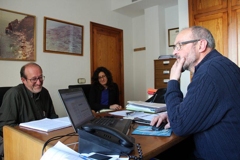 Joan Sala en reunión con Josep Femenía