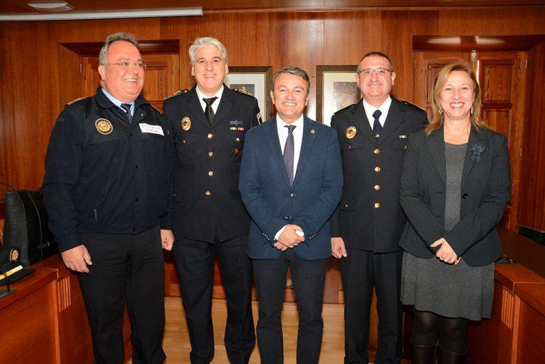 Pepe Ribes en su toma de posesión como Inspector del a Policía Local