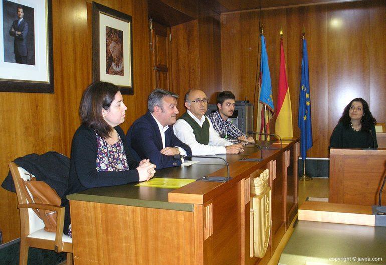 Villaverde, Chulvi, Jorro y Segarra en la recepción a alumnos del proyecto Eramus Plus