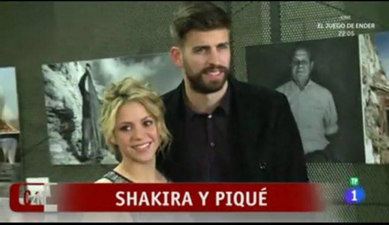 Shakira y Piqué en la exposición