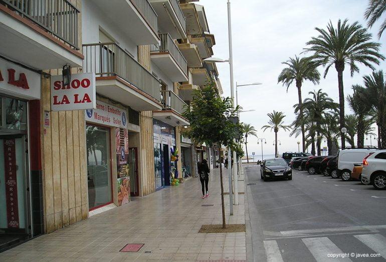 Árboles talados en Avd. JaumeI