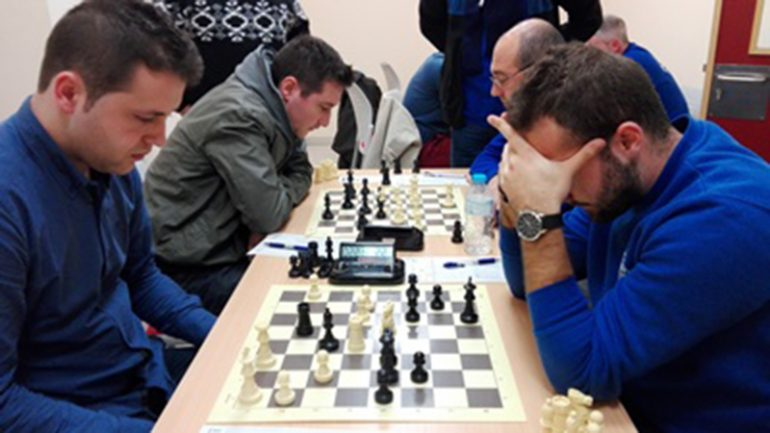 Una de las partidas de ajedrez