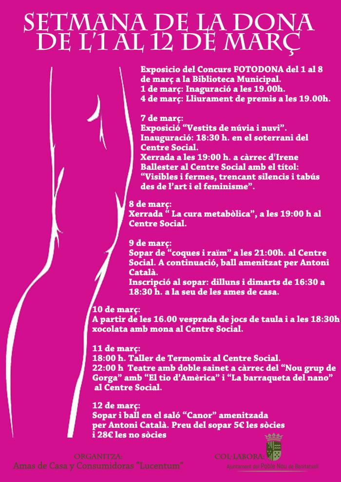 Cartel de la Semana de la Dona en Benitatxell