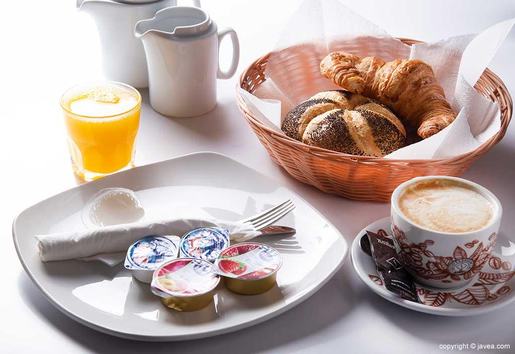 Amplia selección para desayuno Austriaco Café Wien
