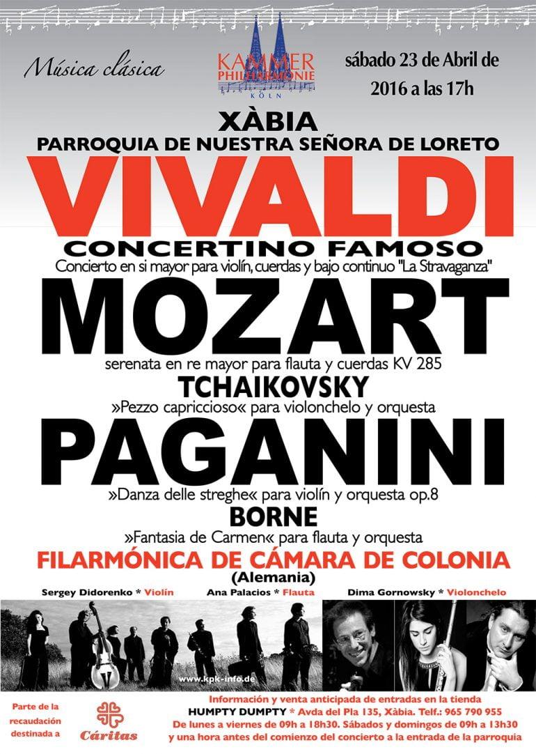 Cartel del concierto de la Orquesta Filarmónica de Colonia