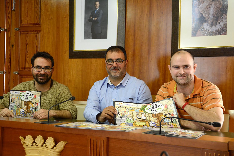 Cesc Camprubi y Simón Montague en la presentación de la Fira de Artesanía