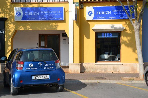 Zurich suisse octobre entrée au bureau de la société