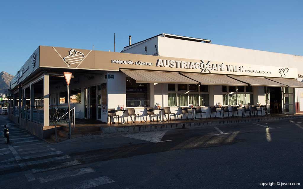 Exterior Austriaco Café Wien