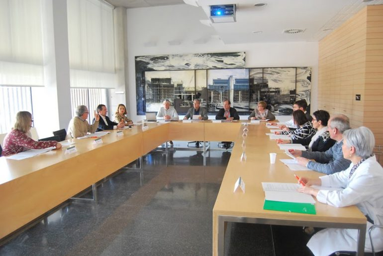 Participantes del Consejo de Salud en el Hospital de Dénia