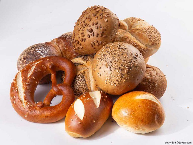 Auswahl österreichischer Brote Café Wien
