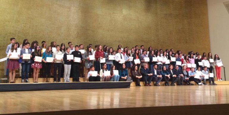 Todos los alumnos galardonados