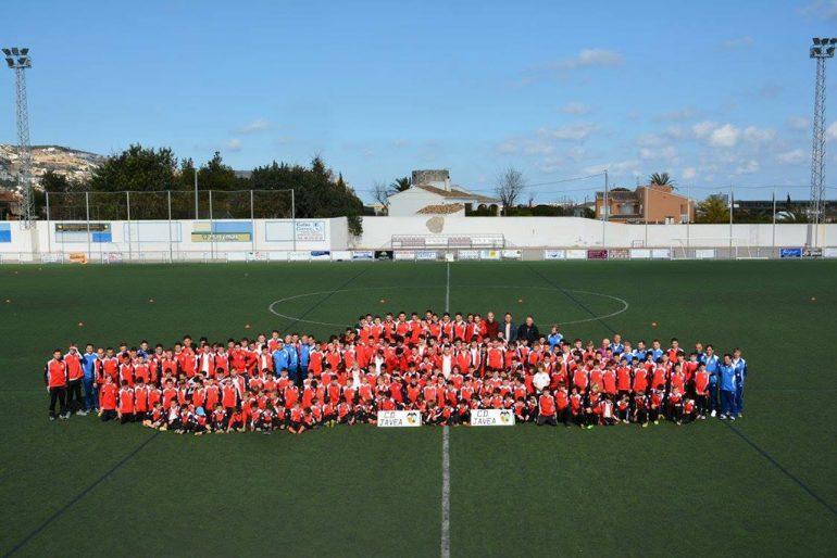 Todos los equipos de la escuela del CD Jávea
