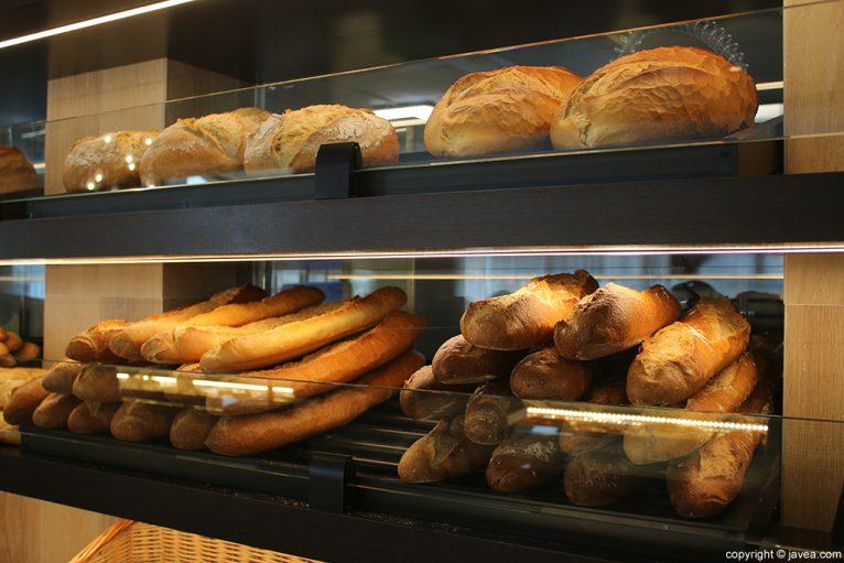 Variedad de pan Austriaco Café Wien