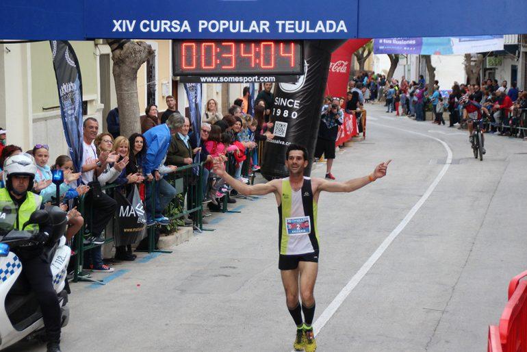 José Manuel García entrando en meta