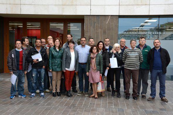Alumnos del taller de empleo Xàbia Impulsa III