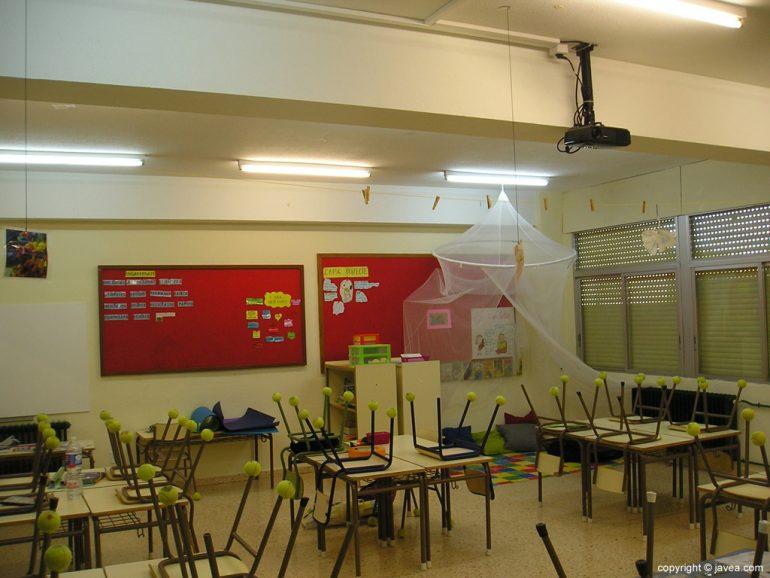 Aula del colegio Trenc d'Alba de Xàbia