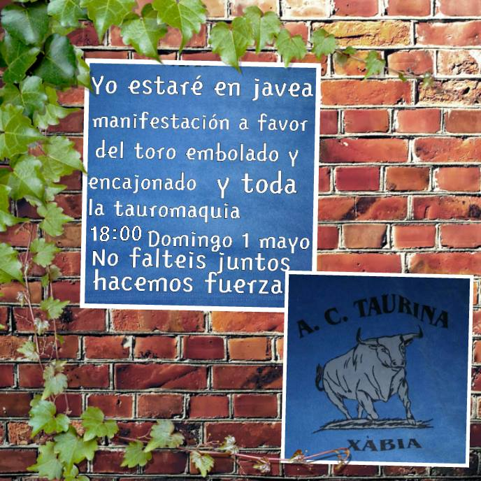 Cartel convocatoria de la Asociación Cultura Taurina de Xàbia