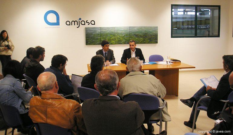 César Sánchez en la reunión del Consorcio de Aguas de la Marina Alta
