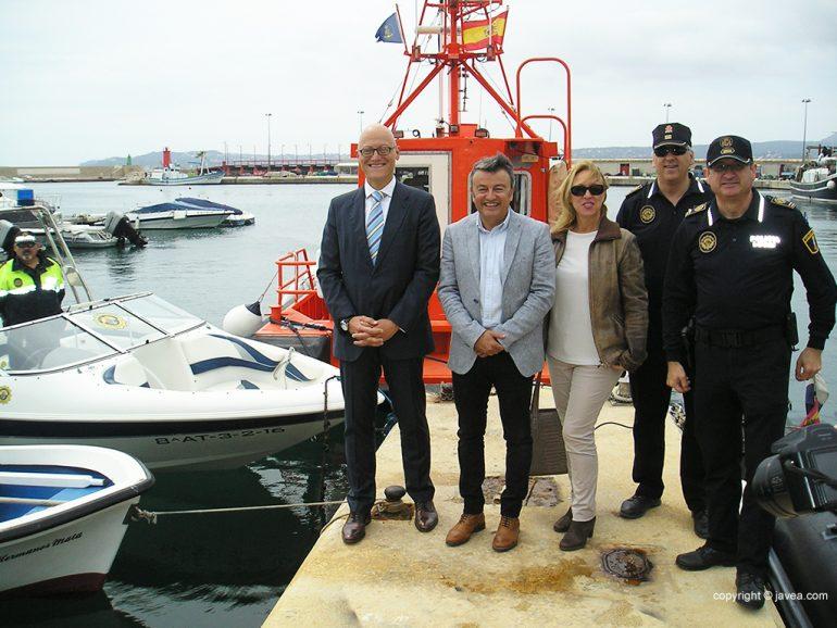 El juez Javier Reyes junto a Chulvi, Gisbert y Monfort