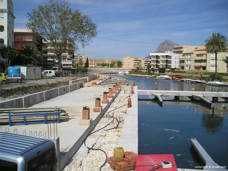 Estado de las obras del Canal de La Fontana