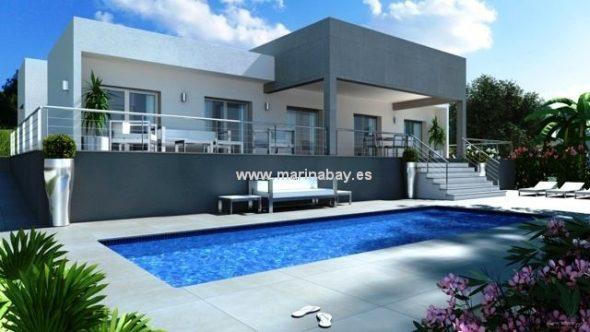 Fachada y piscina de MarinaBay Homes CHA0670