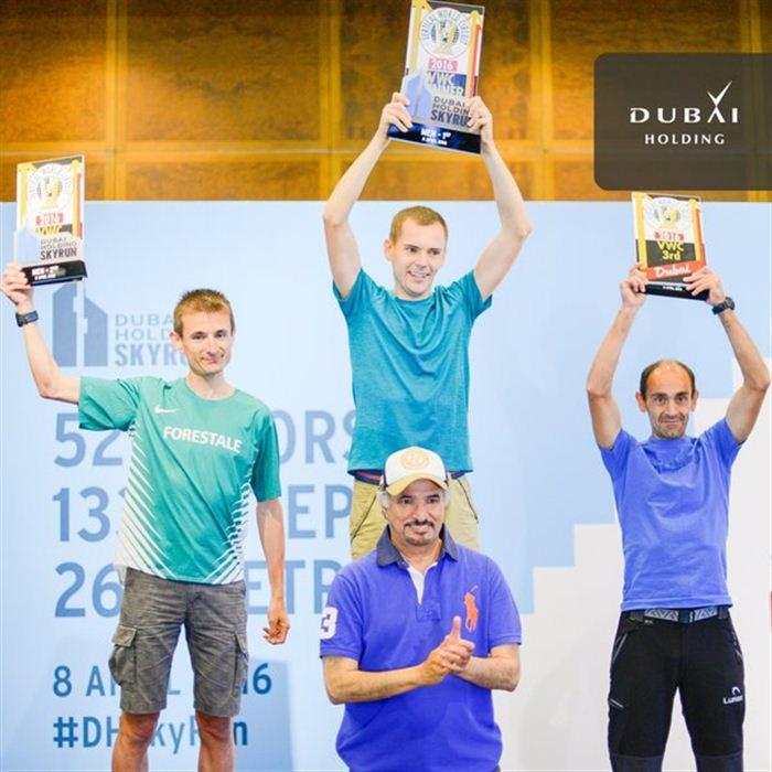 Ignacio Cardona en el podio de Dubai