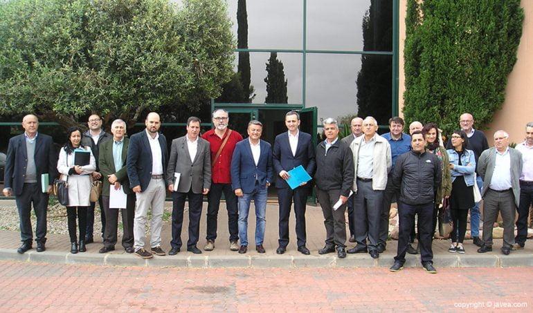Miembros del Consorcio de Aguas de la Marina Alta