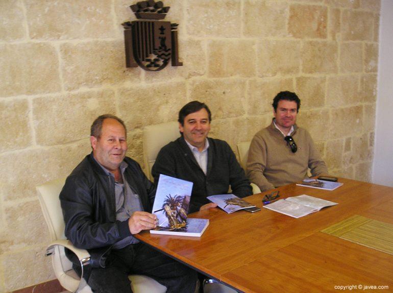 Antonio Miragall junto a Vicente Tur y Vicente Bas