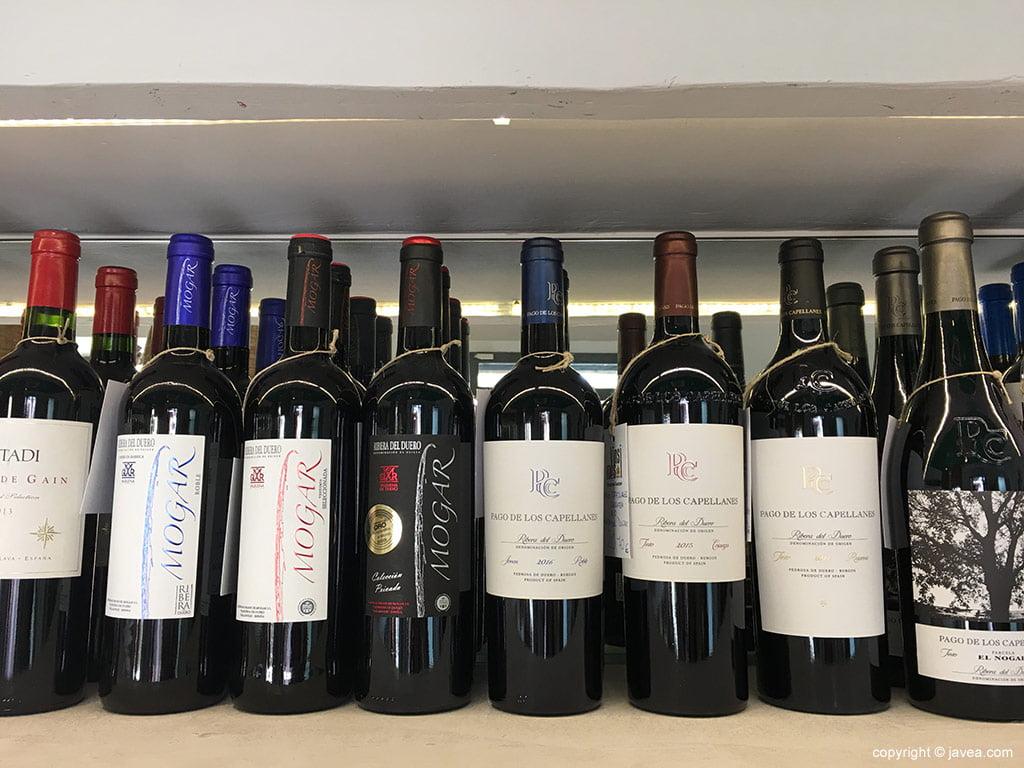 Variedad de vinos Vins i més