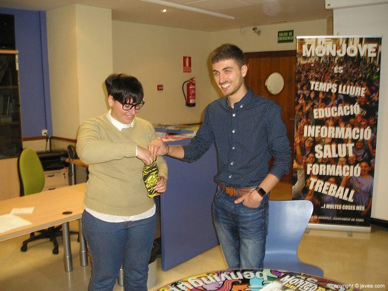 Ximo Segarra en el sorteo de las actuaciones del Montgorock Jove