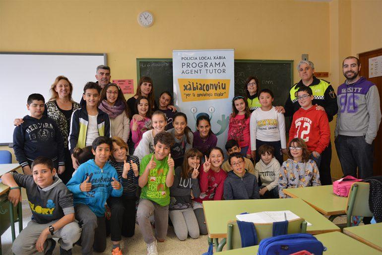 Alumnos participantes en el programa Xàbia Conviu