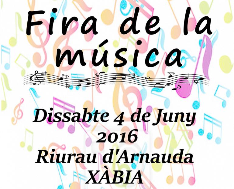 Cartel de la Fira de la Música en Xàbia