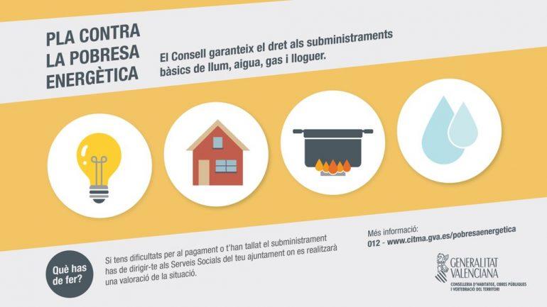 Cartel del Plan de Pobrerza Energética