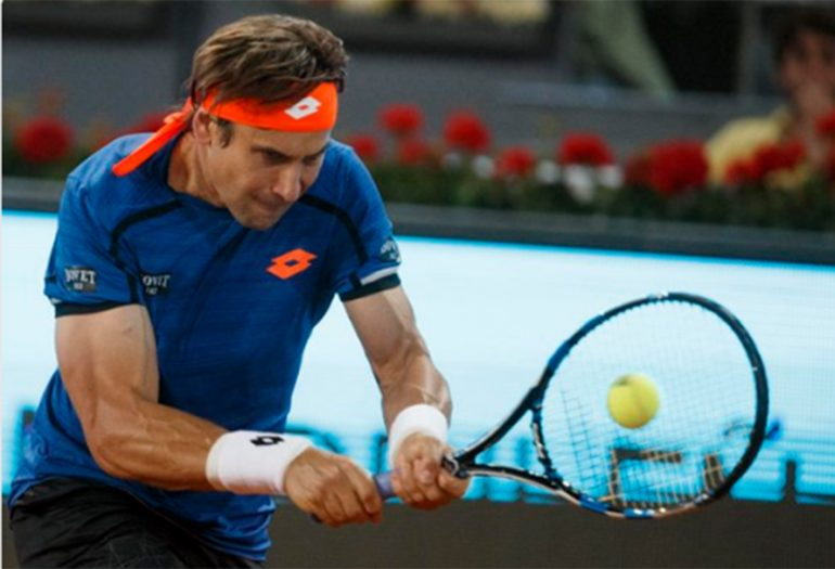 David Ferrer en el Madrid Open