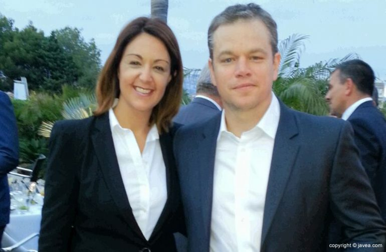 Matt Damon con Cristina de Salones Carrasco