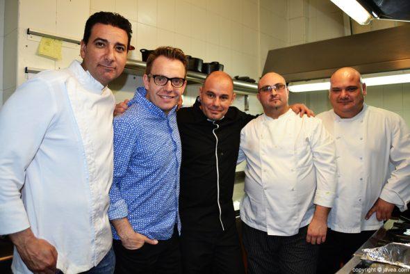 Nazario Cano con los chefs de la Semana del Arroz